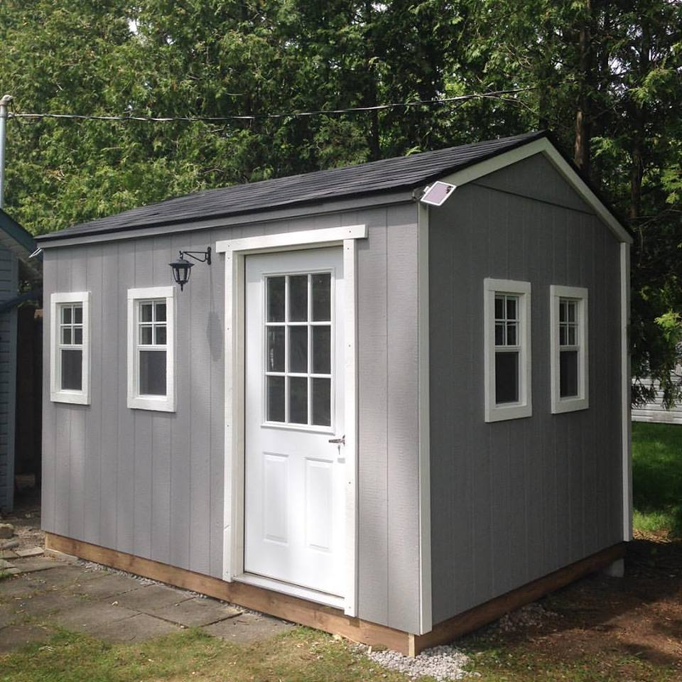 Shed in a day wooden backyard garden sheds storage for Pre built sheds